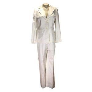 Ann Taylor LOFT two piece white/cream suit